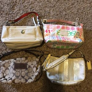 Lot of 4 Coach small bags